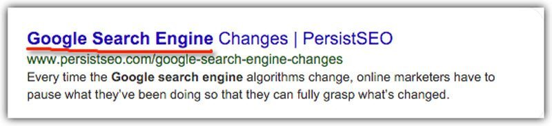 page title with focus keyword