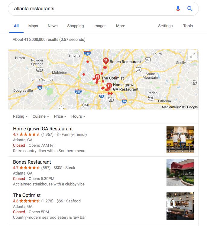 google maps marketing - 3 pack